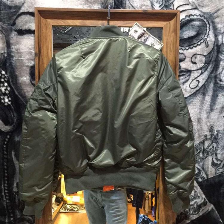 Aolamegs Men Bomber Jacket Thick Winter Military Motorcycle Ma-1 Flight Jacket Pilot Air Force Flying Jackets Baseball Uniform (23)