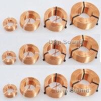 1 pces 0.8mm 0.2mh 1.8mh áudio amplificador alto falante crossover indutor 4n oxigênio livre bobina de fio de cobre # cobre|Acessórios de caixas de som| |  -