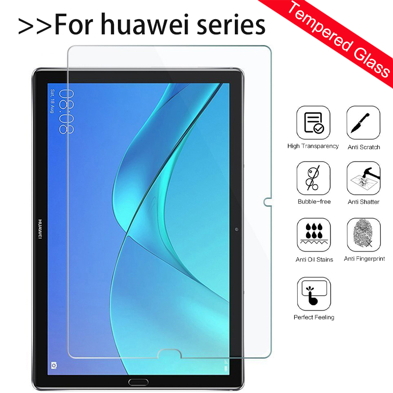 Tablet Screen Protector For Huawei MediaPad T3 7 8 10 Inch Wifi 4G Tempered Glass Ultra Thin For Huawei Media Pad M5 Lite 10.1 8