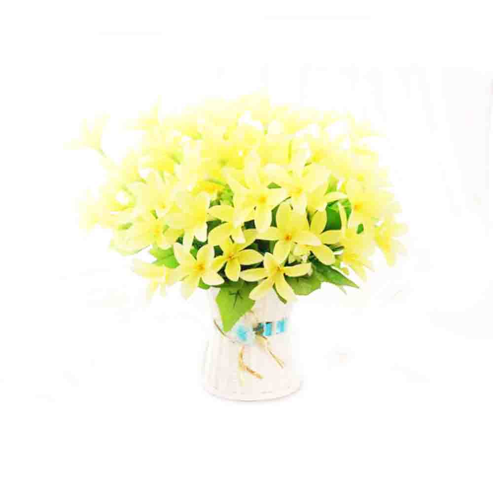 10 Forks 30 Heads Fake Silk Lily Flowers Home Decorative Artificial Flowers for Wedding Bride Bouquet Garden Decoration