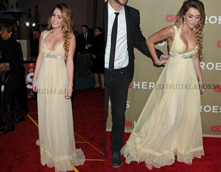Cleavage-Revealing Prom Dresses