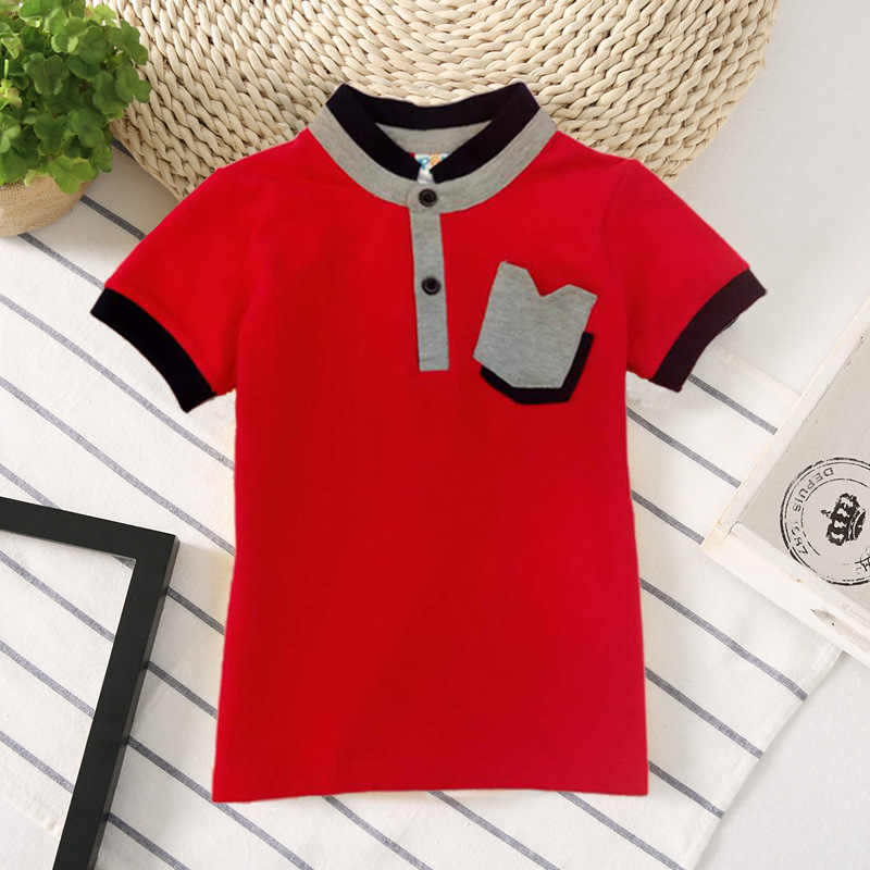 226e2f608 ... Kids Boy School Polo Shirts Style Fashion Summer 2018 Children Cotton  Short Sleeve Clothes Toddler Pattern