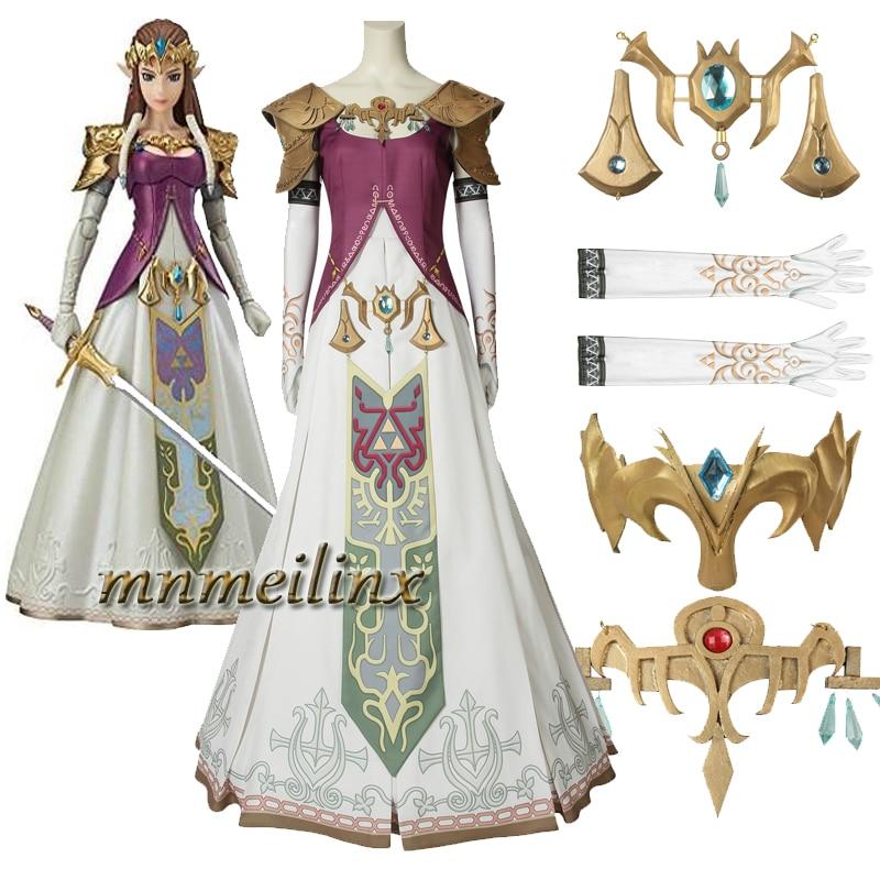 Us 25 0 New The Legend Of Zelda Twilight Princess Cosplay Costume Zelda Princess Accessories Halloween Clothes Bbeautiful Dress In Game Costumes