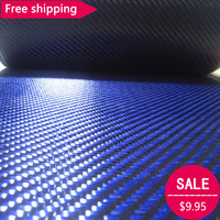 Free Shipping Blue Kevlar 3K Carbon Fiber Mixed Fabric 12 30cm Wide 2x2 Twill Carbon Kevlar