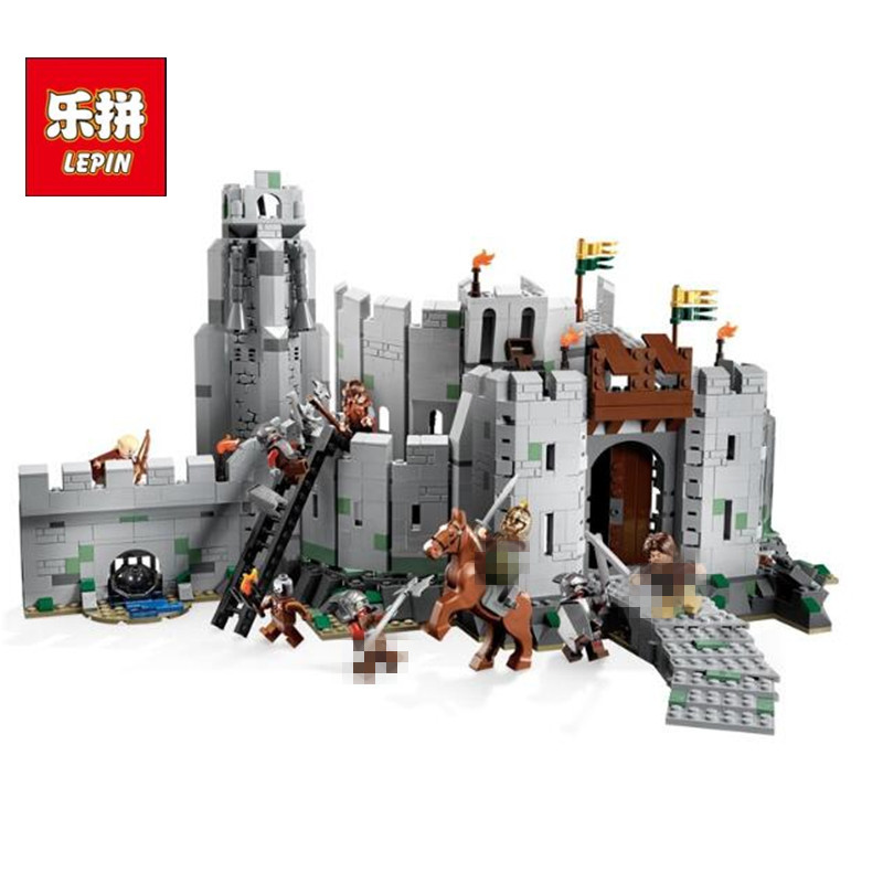 In Stock Lepin Sets 16013 1368Pcs Lord of the Rings Figures Battle Of Helm's Deep Model Building Kits Blocks Bricks Kid Toy 9474 16013 castle knights the lord of the rings series the battle of helm deep model building blocks bricks toys for kids 9474 lepin