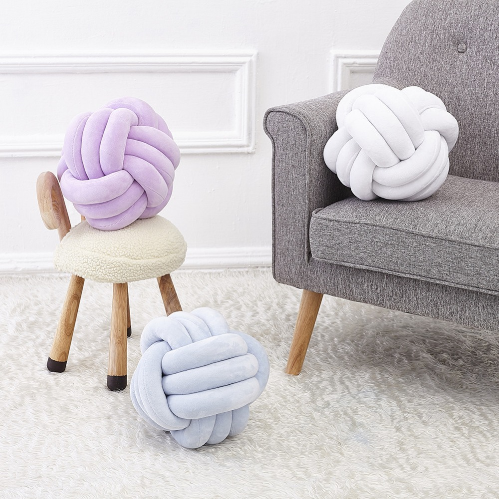 2017 Hot Sale Fashion Baby Knot Ball Knot Pillow Nordic