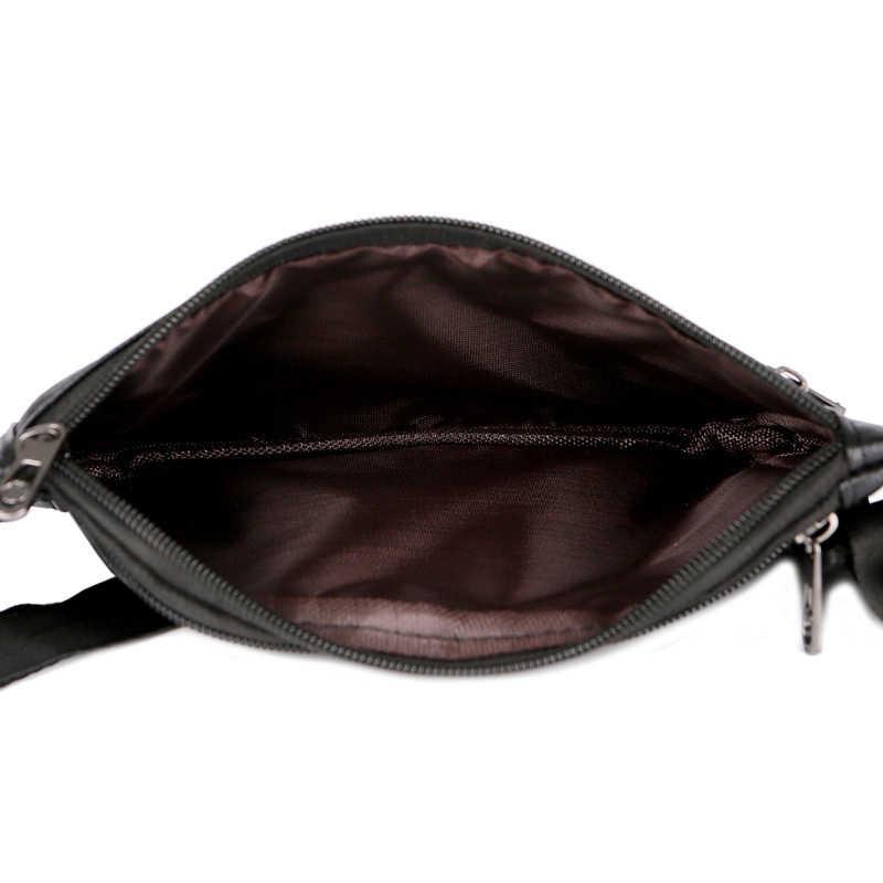 LUCDO ファッション革ウエストバッグ防水ハンディ男性ファニーパックスモール黒旅行ウエストベルトバッグ財布ポーチ財布脚バッグ