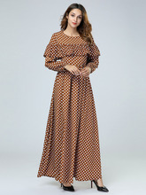 Elegant Floral Clothing Long Dress Maxi Abaya Full Dress Tunic Kimono  Ethnic Robe Gowns Muslim Middle 529e65f9afd5