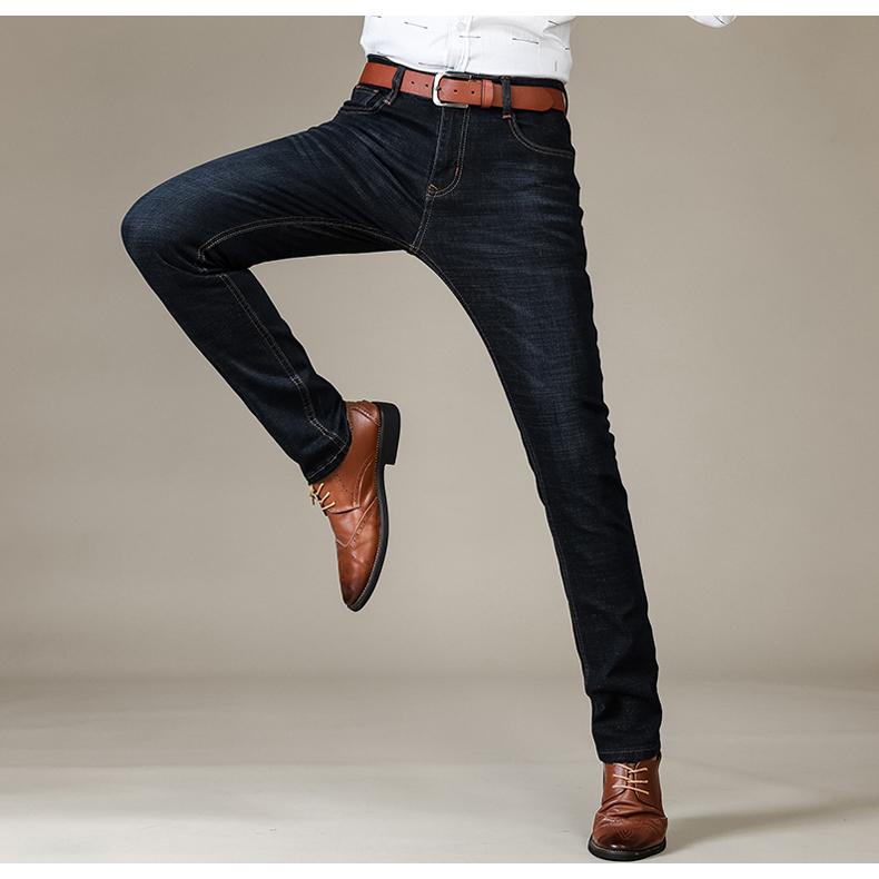 Брат Ван бренд 2019 Новые мужчины's мода джинсы бизнес свободного покроя стрейч тонкий джинсы классические брюки джинсовой ткани брюки мужской 101