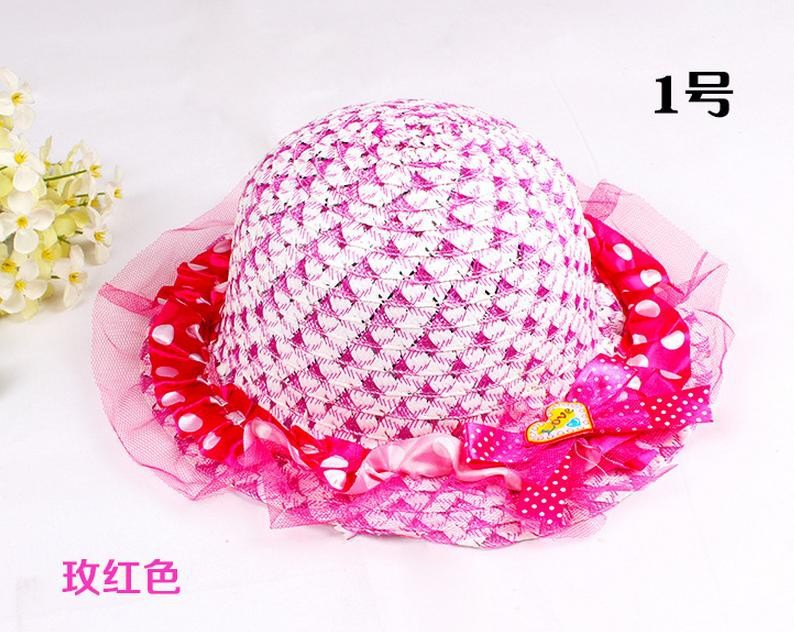 Шляпы от солнца Пляжная Шляпа летняя солнцезащитный козырек шляпа корейская детская кружевная принцесса кружевной капор пляжная шляпа 4254
