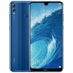 Image 1 - 名誉 8X最大 7.12 インチの携帯電話アンドロイド 8.1 16MPオクタコア画面指紋id 4900 2000mahのバッテリースマートフォン