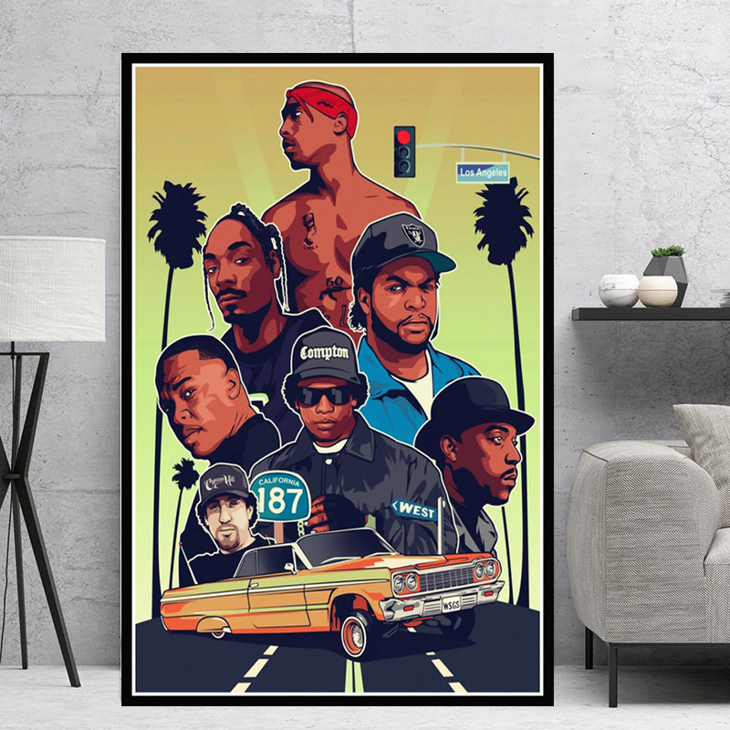 2PAC JAY Z N.W.A West Hip Hop Biggie Smalls Rapper Collage
