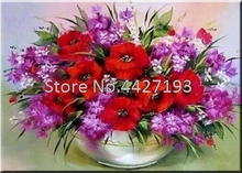 5d diamond painting christmas diy diamant accessoires full rhinestone embroidery poppy flowers Mosaic gift