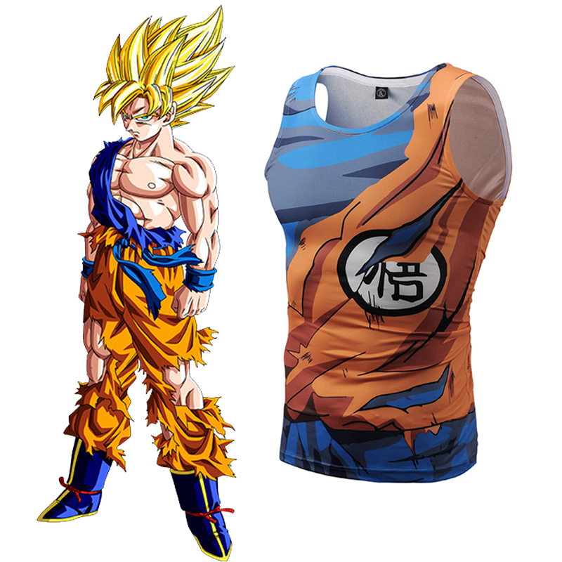 25de36004b3f04 Buy dragon ball super sleeveless shirt and get free shipping on  AliExpress.com