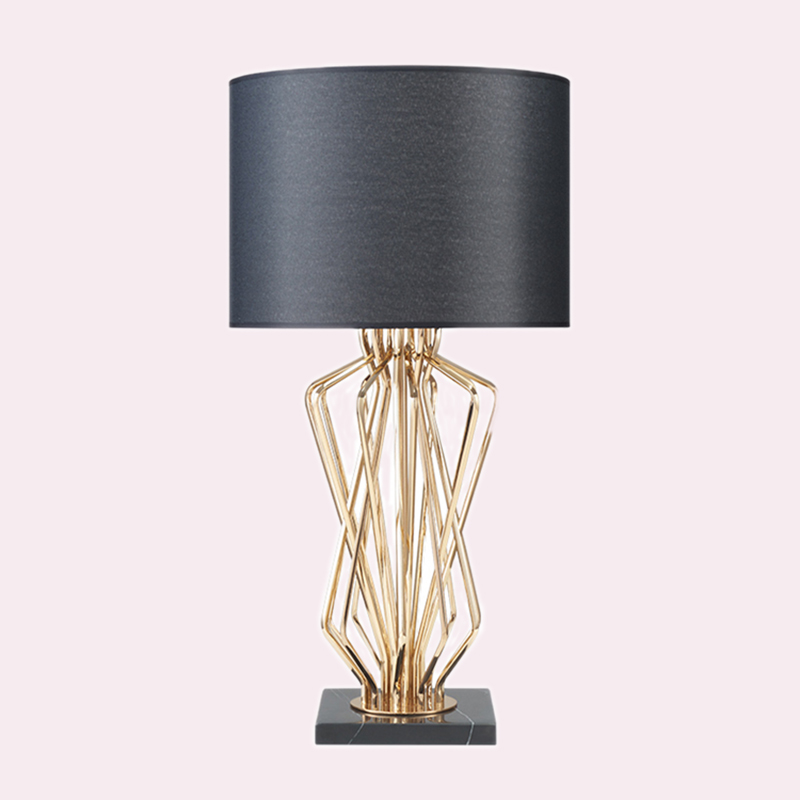 Us 83 64 18 Off Simple American Marble Metal Creative Modeling Table Lamps Living Room Bedroom Bedside Study Large Trumpet In Led Table Lamps From