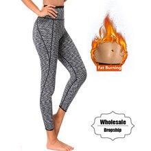 Ningmi calças quentes mulheres manter o aquecimento suor sauna neoprene curto legging controle calcinha corpo shaper cintura trainer emagrecimento pant