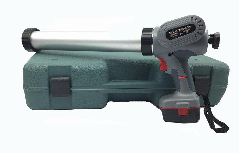 Les deux Saucisse et Utilisation de la Cartouche Électrique Pistolet Mastic Batterie Silicone Gun Sans Fil Pistolet À Calfeutrer Livraison Gratuite Pour La Russie Seulement