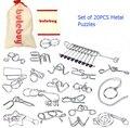 20 шт./компл. подарок IQ логические распутывание металлическая проволока головоломки игры игрушки решение для взрослых детей детей