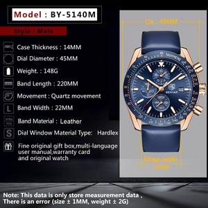 Image 4 - BENYAR 2018 ใหม่ผู้ชายนาฬิกาธุรกิจเหล็กเต็มรูปแบบ Quartz Top ยี่ห้อ Luxury Casual กีฬากันน้ำนาฬิกาข้อมือชาย Relogio Masculino