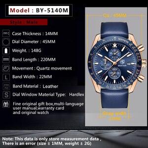 Image 4 - BENYAR 2018 nowy mężczyzna zegarka biznes pełny stalowy kwarcowy Top marka luksusowe dorywczo wodoodporny sport męski zegarek Relogio Masculino