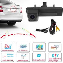 1Pcs Car Parking Reversing Rear View Camera for Skoda Octavia 2010 2012 2013 Front Rear View Camera Waterproof Camera Promotion car reverse camera 175 degree 1080p parking rear view camera for mitsubishi asx 2011 2012 2013 2014 reversing car camera