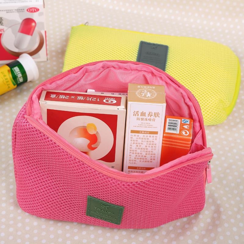 2018 2PCS/Set Women Makeup Bagbolsa Cosmetic Cases Lady Clutch Make Up Purse Organizer Mesh Insert Bag Organiser BolsasWholesale