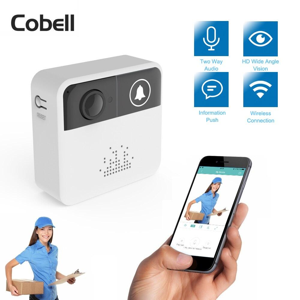 Cobell 720 p HD Drahtlose WIFI Türklingel Batterie Tür Kamera Zwei-wege Audio Intercom IP Tür Glocke Home Security APP control
