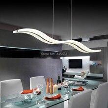 Современный шнур подвесные светильники 38 Вт AC85-265V подвеска лампа L98CM S форма из светодиодов Acylic кулон бар для офисного / кухня / гостиная