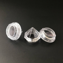 10Pcs/Set 5g Empty Travel Refillable Bottles Transparent Diamond Cream Box Cosmetic Case