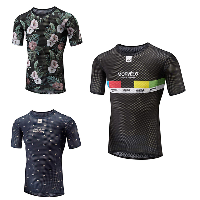 Morvelo In The Summer Hot Weather Of Men's Technical Mesh Base Layer Designed With High Stretch Short Sleeve Cycling Jerseys