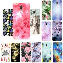 Case For Huawei Y3 Y5 2017 Enjioy5 Mate 10 Lite Soft TPU Unicorn Peach Blossom Silicone For Huawei Mate 10 Lite Back Cover Coque(China)
