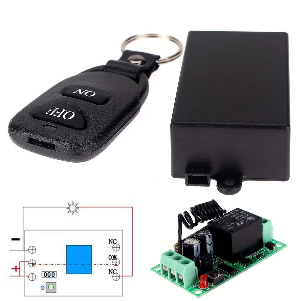 Universal DC 12V 10A Relay Wireless RF Remote Control Switch Transmitter+Receiver Module RF Transmitter 433 Mhz Remote Control dc 12v led display digital delay timer control switch module plc automation new