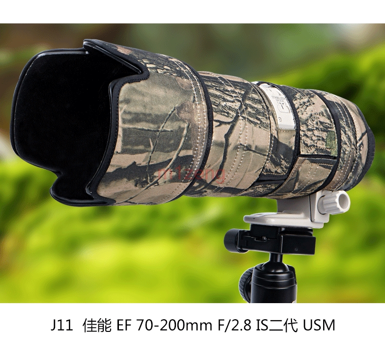 EF 70-200mm f2.8 L IS II USM Lens Waterproof Clothing protective cover case Rain Cover For Canon Guns rolanpro lens camouflage rain cover for canon ef 400mm f 4 do is usm lens slr gun clothing protective case guns clothing cotton