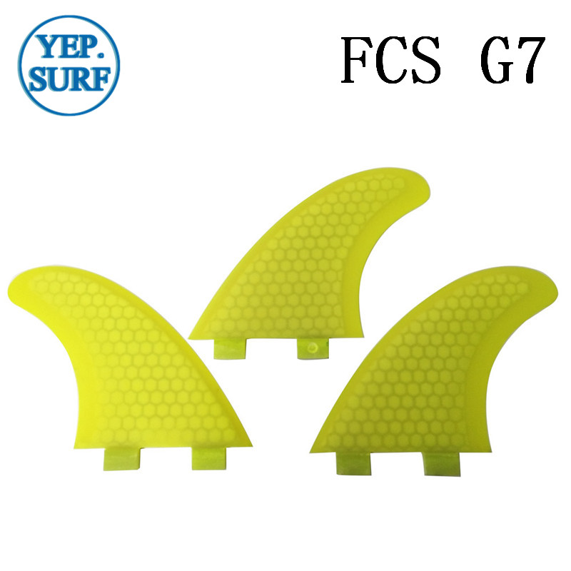 Surfboard Fibreglass Fin FCS G5 Fin Honeycomb Surf Fin G5 Quilhas Surf FCS Fin yellow 5 colors in Surfing from Sports Entertainment