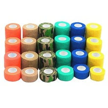Pet Animal Wound Non Woven Cohesive Bandage Self Adherent Wrap Tape Pet Finger Arm Bandage Tapes 6pcs pack 1x5yards color elastic self adhesive non woven bandages cohesive wrap bandages tapes for emergency wound treatment