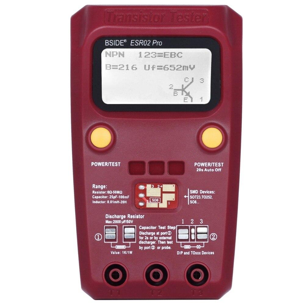 Official BSIDE ESR02PRO Digital transistor SMD Components tester Diode Triode Capacitance Inductance Multimeter ESR Meter