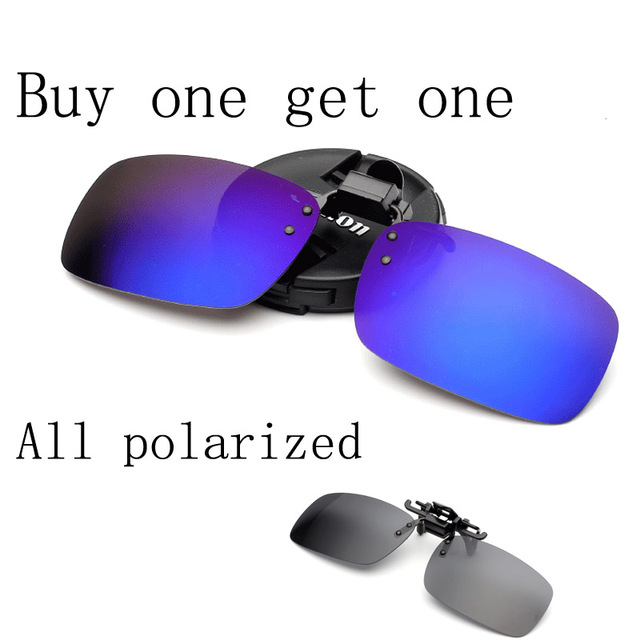 Polaroid gafas de sol clip marca lente polarizada hombres mujeres  revestimiento clip en gafas de visión c80f75899b08