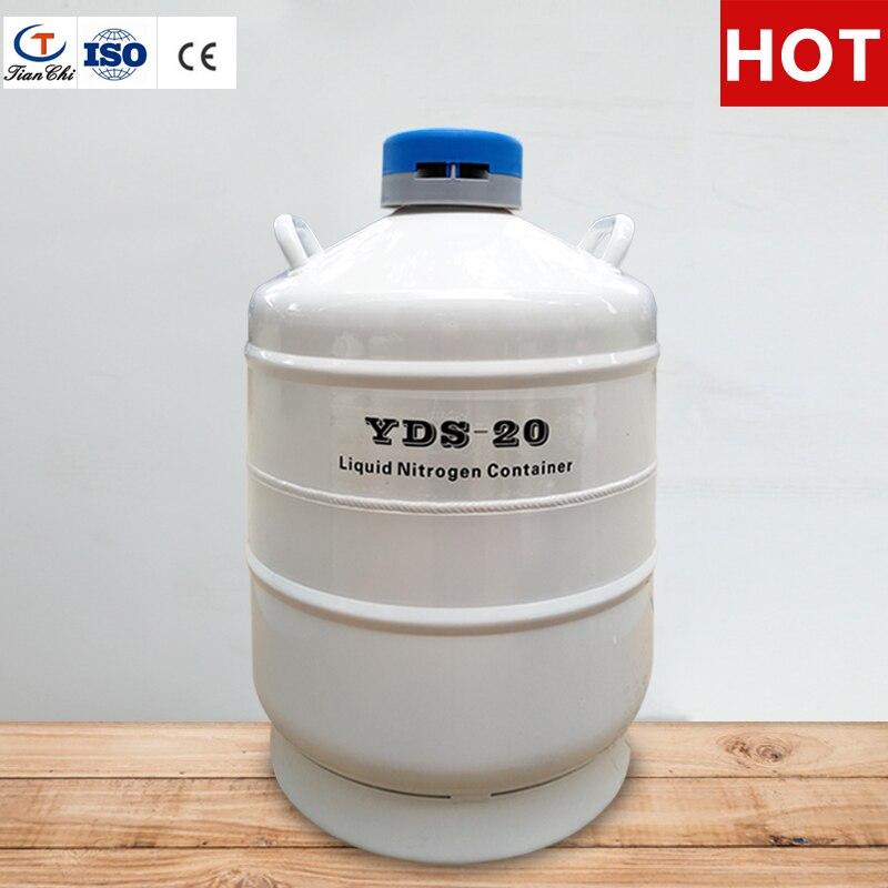 TIANCHI Жидкого Азота танк 20 л криогенные хранения semen резервуар для сосуд Дьюара с бретели нижнего белья сумка