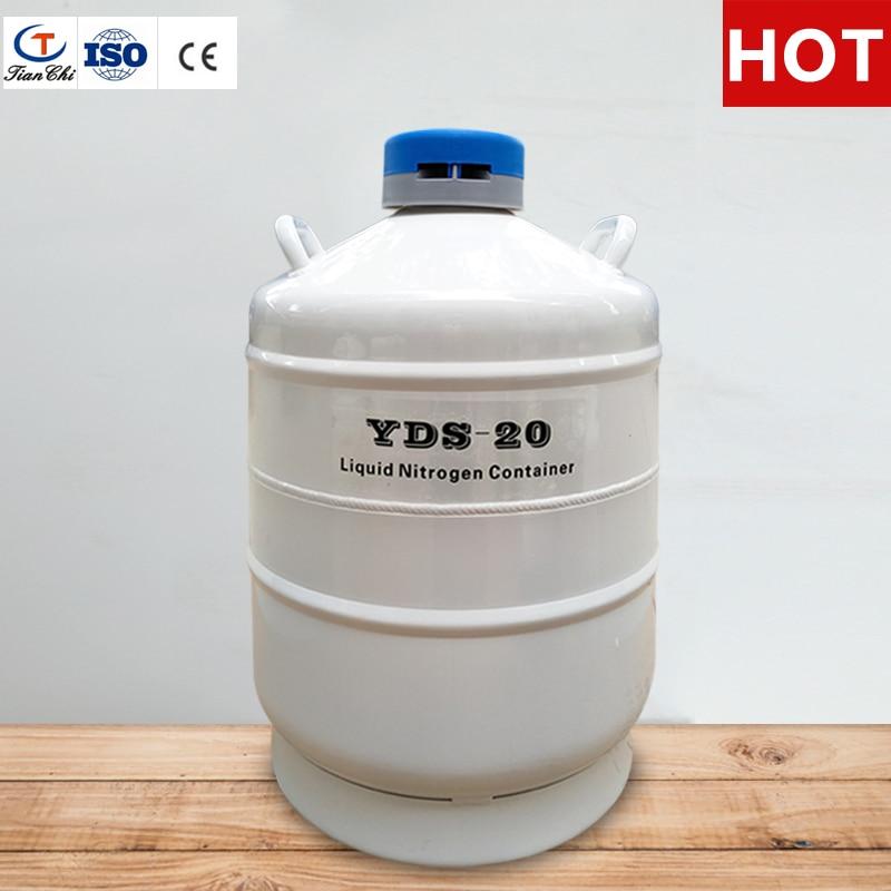 TIANCHI réservoir d'azote liquide 20 L sperme de stockage cryogénique dewar flacon de 20 litre avec bretelles sac de transport