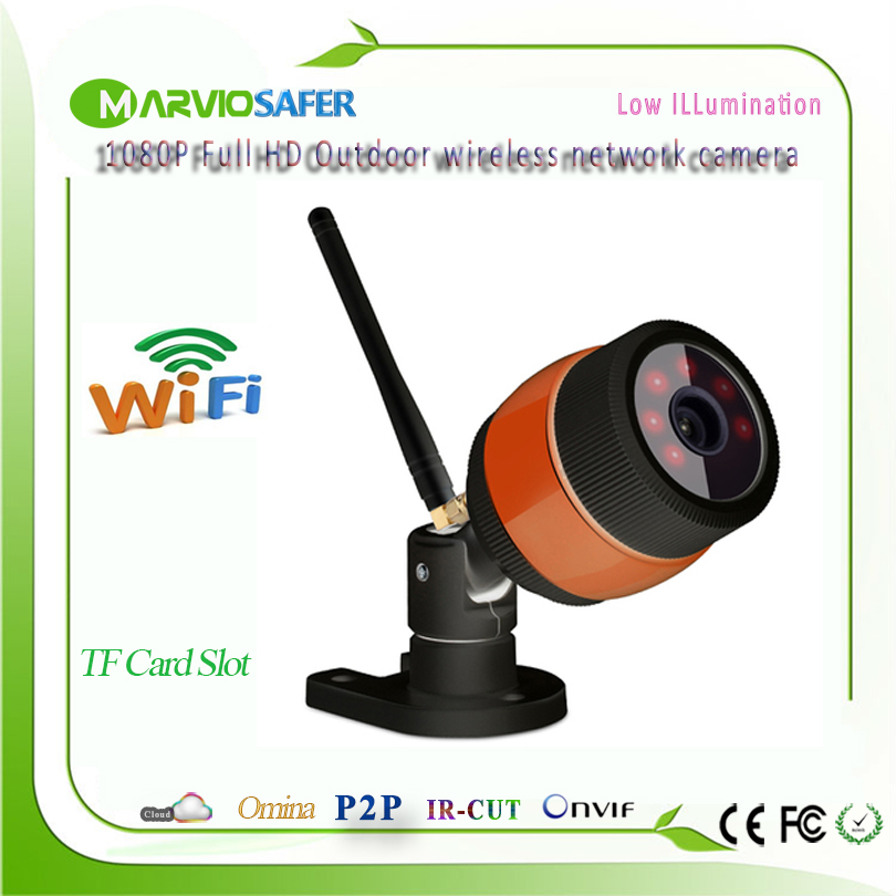 Marviosafer 1080P 2MP Full HD wi fi outdoor use Bullet Network IP Camera wifi ip camera Wireless Camera IPCam Onvif TF Card Slot escam qd900 wifi ip camera 2mp full hd 1080p network infrared bullet ip66 onvif outdoor waterproof wireless cctv camera