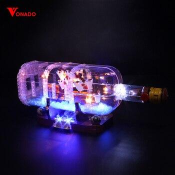 цена на Led Light Set Compatible For Lego 21313 Ideas Serie 16051 creator ship in a Bottle Building Blocks Bricks(only LED light)