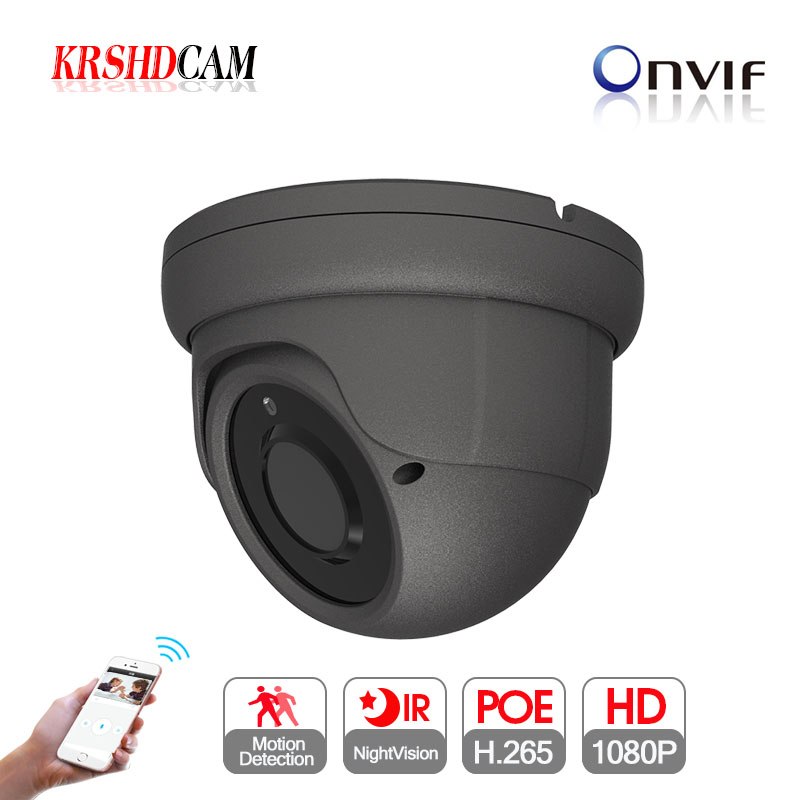 2MP POE <font><b>ip</b></font> camera 1080P ONVIF 2.4 room dome <font><b>sony</b></font> <font><b>imx323</b></font> IP66 vandalproof 24IR varifocal 2.8-12MM zoom lens cameras de seguranca image