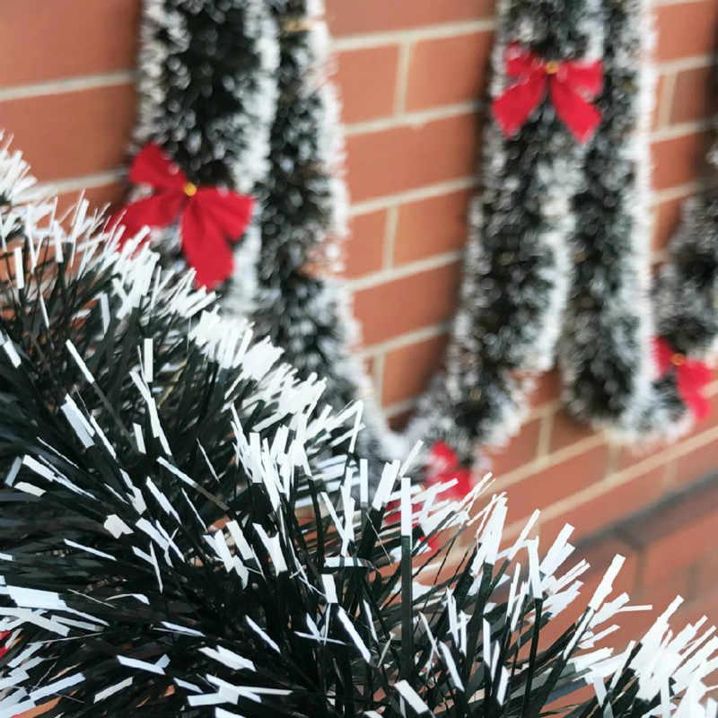 200 Cm Christmas Decor Mall Bar Tops Ribbon Garland Streamers Christmas Tree Ornaments White Green Cane Tinsel Party Supplies