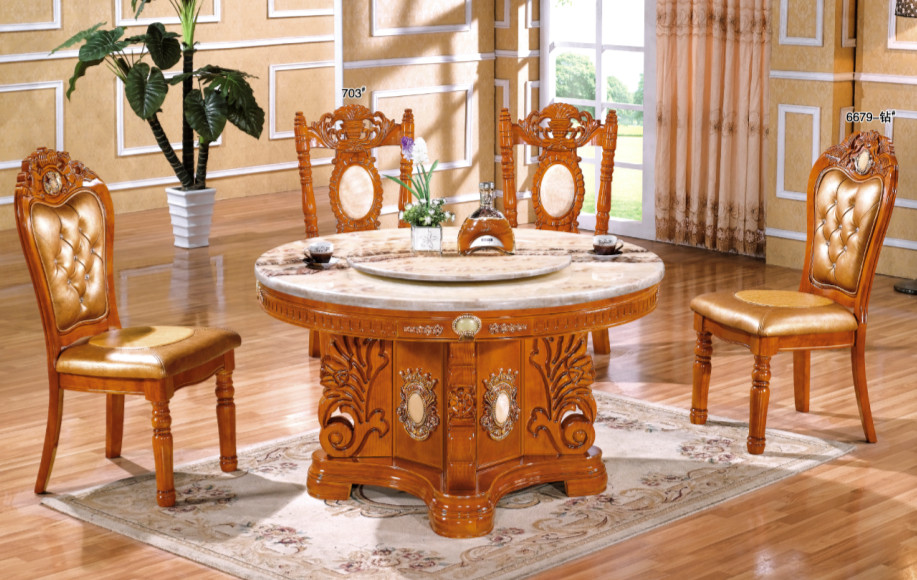 fashion design clear round dining table