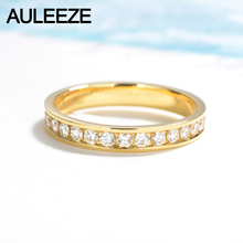 AULEEZE 1cttw Certificate Diamond Wedding Band For Women 18K Solid Yellow Gold Wedding Enternal Engagement Ring Diamond Jewelry