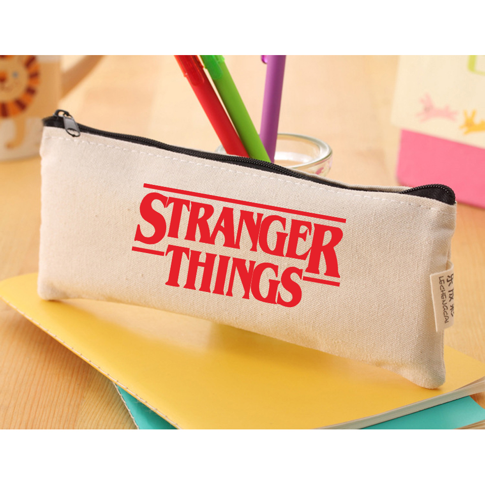 2018 Stranger Things Canvas Handbags Stationery Gift School Bags Day Clutches Accessories Stranger Things Case Movie TV Series