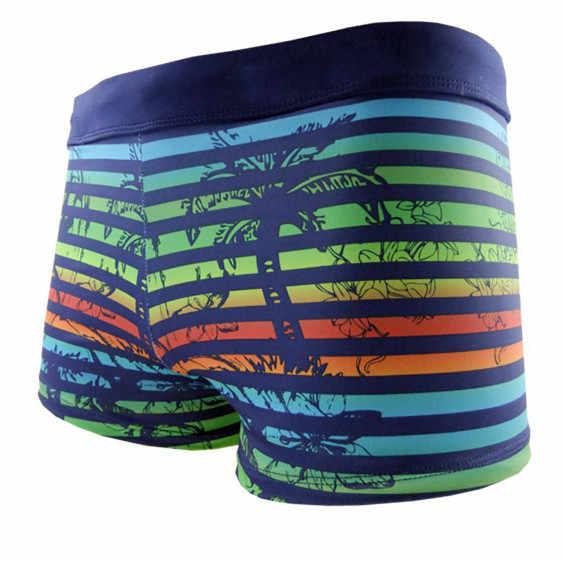 1eb40652657c9 Detail Feedback Questions about Funfeliz Boxer Swimming Trunk for Men Nylon  spandex Striped Swimsuit Teenage Boy Swimwear Mens Swim Shorts Men Sunga ...