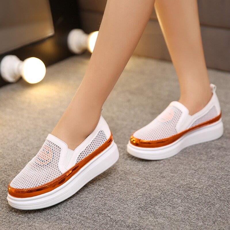 Women Casual Round Carrefour Shoes Fashion Toe Mesh