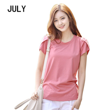 5XL Plus Size Short Sleeve Women T-Shirts 2019 New Summer O-Neck Solid Loose Female T-Shirt Casual Slim Lady Tees Tops Girl Pink цена и фото