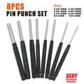 "8 PC Pcs Long Pin Punch Tool Set  2.4mm - 10mm  3/32"" - 3/8"" Hand tool  NEW 16045402"